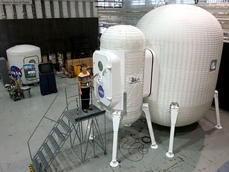 This 'planetary surface habitat and airlock unit' has been delivered to NASA for evaluation.