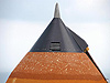 External tank showing effects of hail storm.