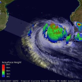 TRMM image of Tropical Cyclone Favio