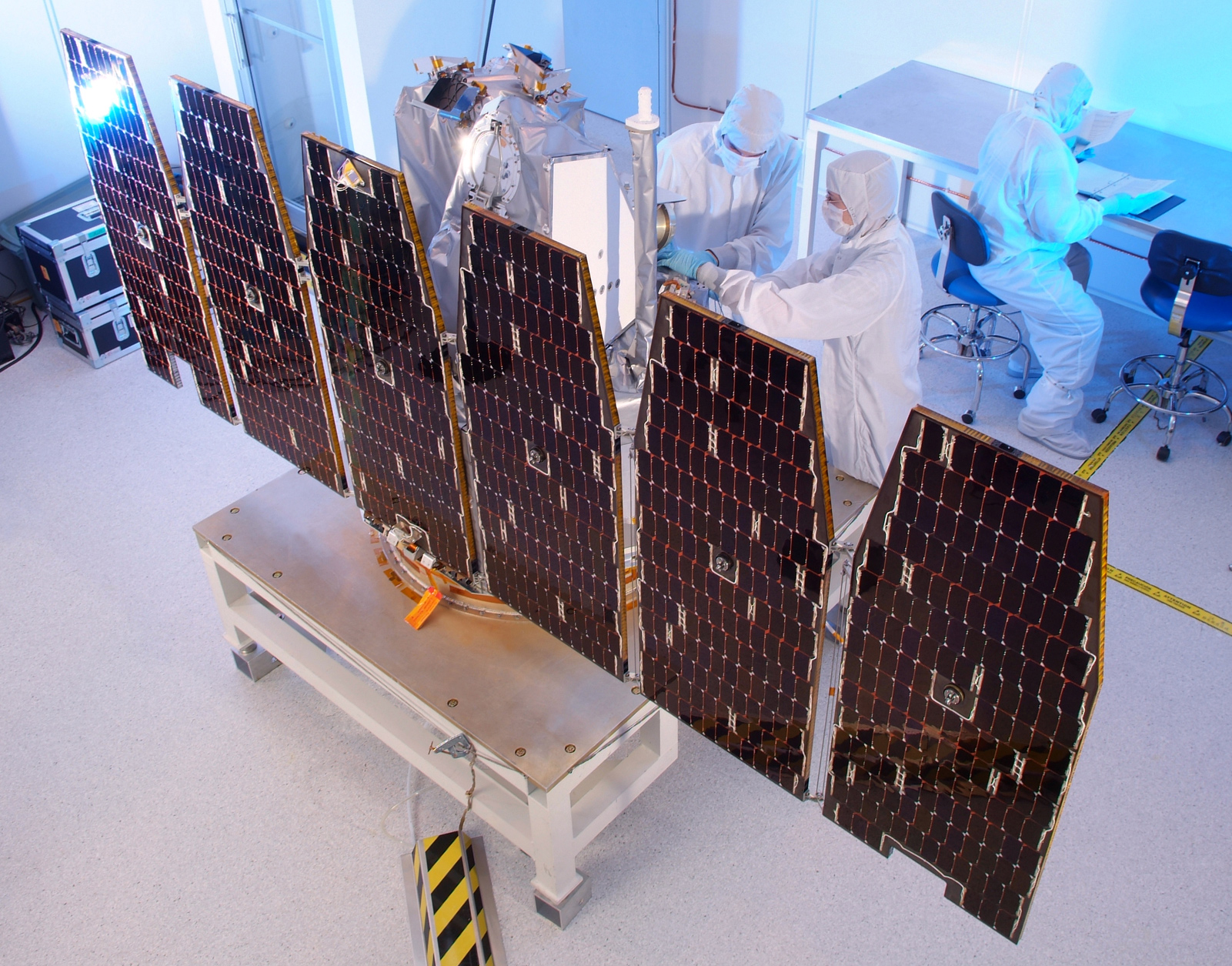 Nasa Aim Solar Array Deployment