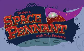 Pennant Design Challenge Logo showing a colorful pennant on the moon
