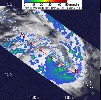 TRMM image of Tropical Cyclone Becky