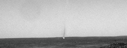 Dust devil seen from Mars Exploration Rover Spirit