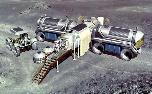Artist's concept of a future moon base.