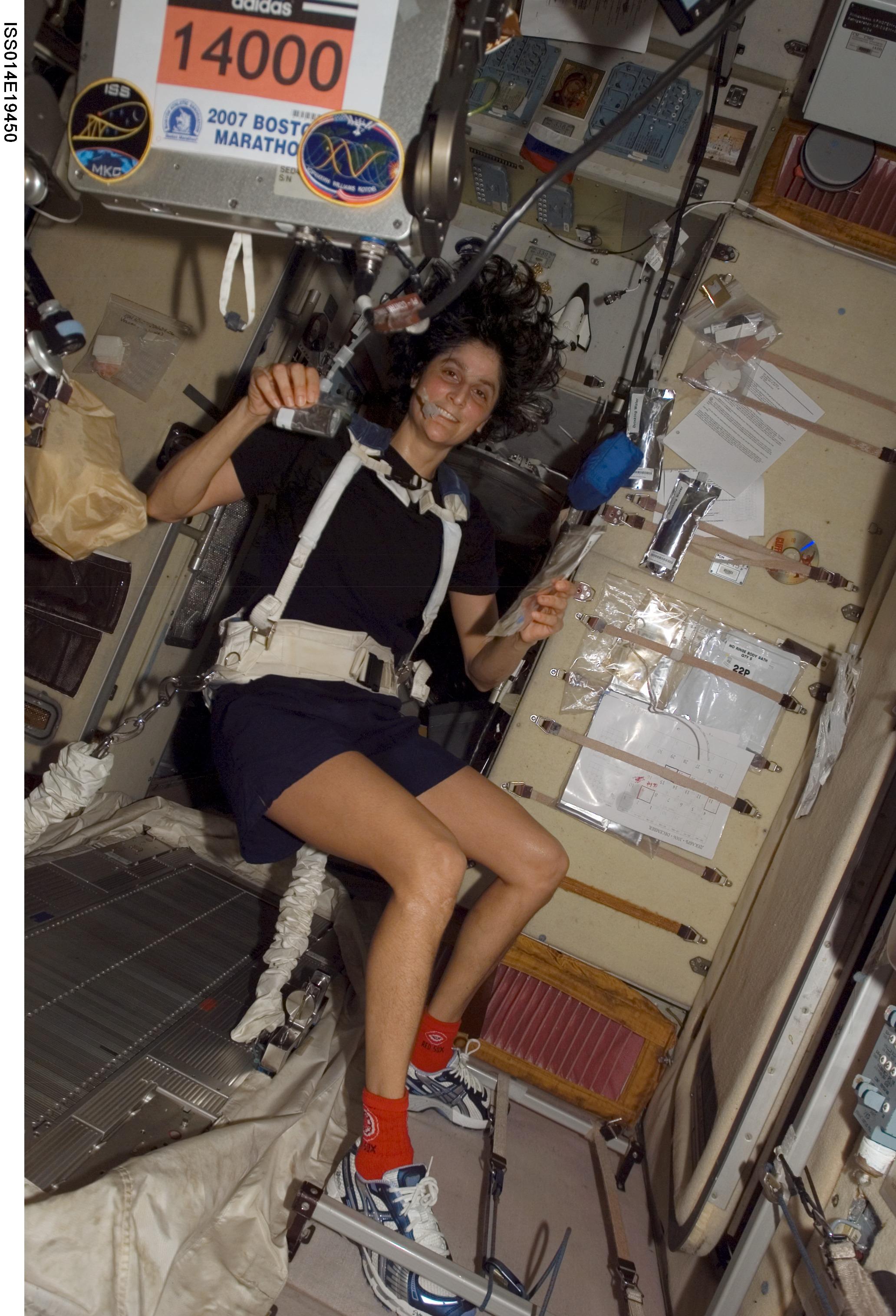 Nasa Williams Runs Boston Marathon Aboard Space Station