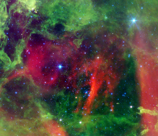infrared view of Rosette nebula