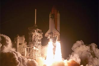 Liftoff of Space Shuttle Discovery on the STS-116 mission.