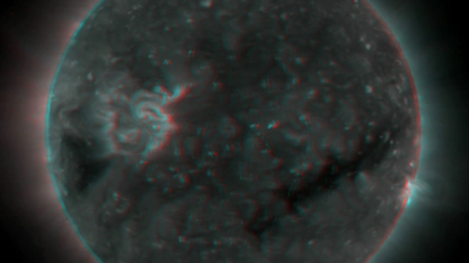 3 D images of the sun by STEREO