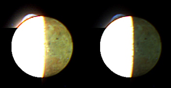 Image of Jupiter's volcanic moon Io at 04:30 Universal Time on February 28, 2007, about one hour before New Horizons' closest approach to Jupiter, from a range of 2.7 million kilometers (1.7 million miles).