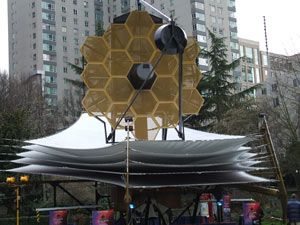 JWST model on display at the AAS annual meeting in Seattle