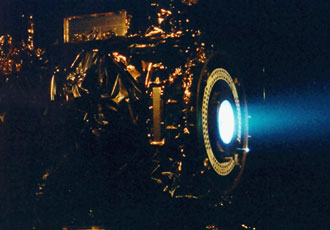 ion propulsion system test for Deep Space 1