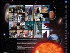 The front of the Earth and Space Science Explorers poster