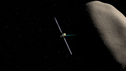artist concept of Dawn at Ceres