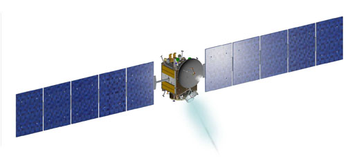 artist concept of Dawn spacecraft