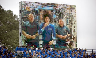 Expedition 15 crew via video at Jamestown 2007