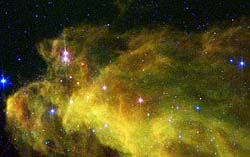 Spitzer image of Witch Head Nebula