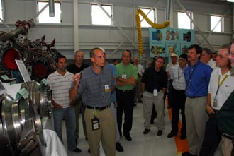 A NASA engineer tells shuttle officials about the main engines.