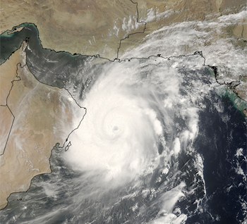 Tropical storms, such as Tropical Cyclone Gonu, are rarities for the Arabian Sea.