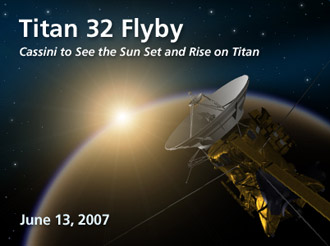 artist concept of June 13, 2007, Titan flyby