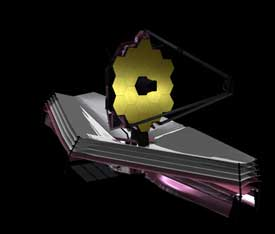 Artist's rendering of the James Webb Space Telescope