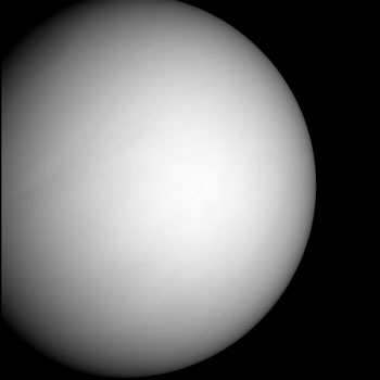 Image of Venus as Messenger approaches