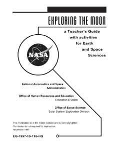 Title page of the Exploring the Moon Educator Guide