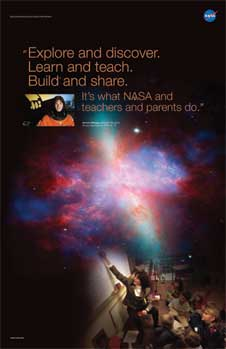 The front of the Barbara Morgan, Educator Astronaut poster