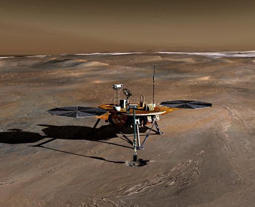 artist concept of Phoenix on Mars