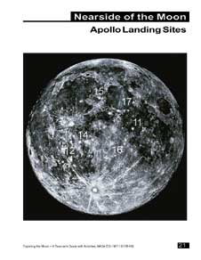 Apollo landing sites from the Exploring the Moon Educator Guide