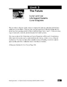 First page of The Future - Unit 3 of the Exploring the Moon Educator Guide