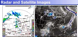 A small radar image and a small satellite image of the area near Lake Placid, N.Y.