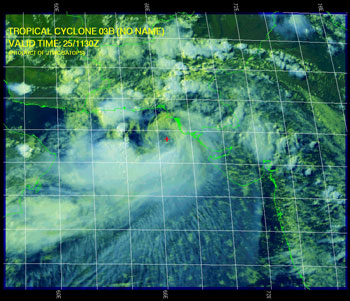 Satellite image of Cyclone 03B