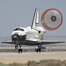 Space Shuttle Atlantis lands at Edwards Air Force Base concluding mission STS-117