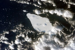 ISS015-E-10125 --- An iceberg in the South Atlantic Ocean