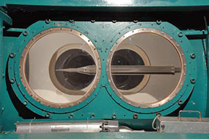 The HyBoLT model inside an AEDC wind tunnel