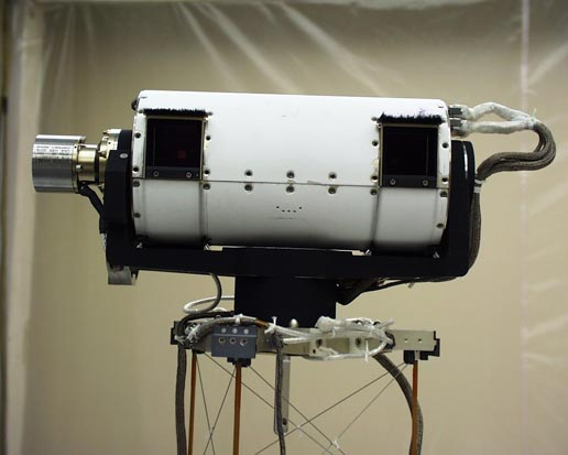 Two lens surface stereo imager on the Phoenix spacecraft