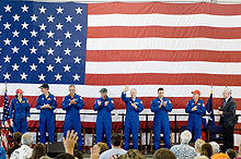 STS-117 homecoming celebration at Ellington