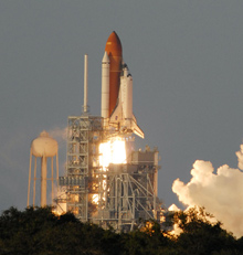 Liftoff of Space Shuttle Atlantis on mission STS-117