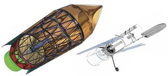 A 6- to 8-meter space telescope would dwarf the Hubble Space Telescope.