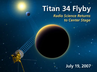 Titan 34 Flyby Radio Science Returns to Center Stage July 19, 2007