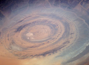 ISS015-E-14584 : Richat Structure in the barren Gres de Chinguetti Plateau, central Mauritania