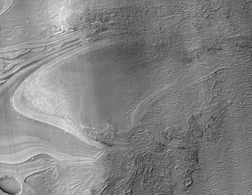 banded terrain on Mars