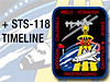 STS-118 Mission Timeline showing the mission patch