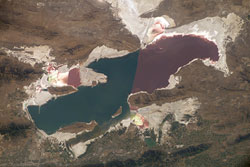 ISS015-E-17052 --- The Great Salt Lake in Utah