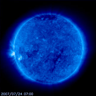 Latest image of the Sun from SOHO