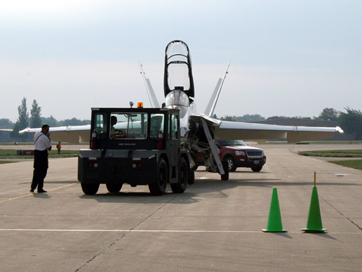 NASA F-18 research aircraft arrives at EAA AirVenture Oshkosh 2007