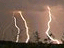 Lightning strikes in southern Germany.