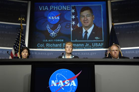 NASA officials at July 27 Briefing