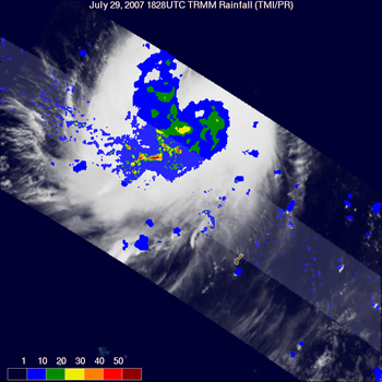 Typhoon Usagi seen by TRMM on July 29, 2007