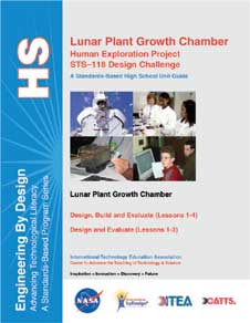 The cover page of the Lunar Plant Growth Chamber Educator Guide